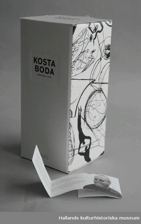 Bockstensman i originalförpackning med informationsblad om Kjell Engman.
