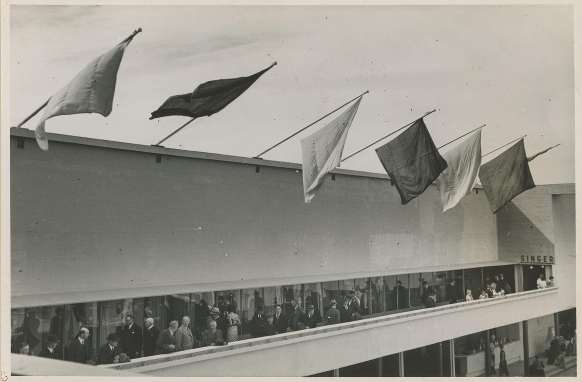Postkort fra Mosseutstillingen 1937.