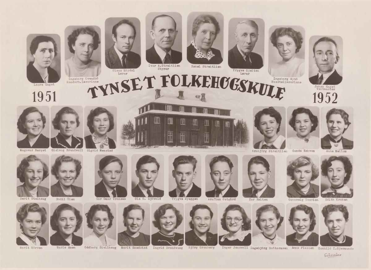 Tynset folkehøgskule 1951-52