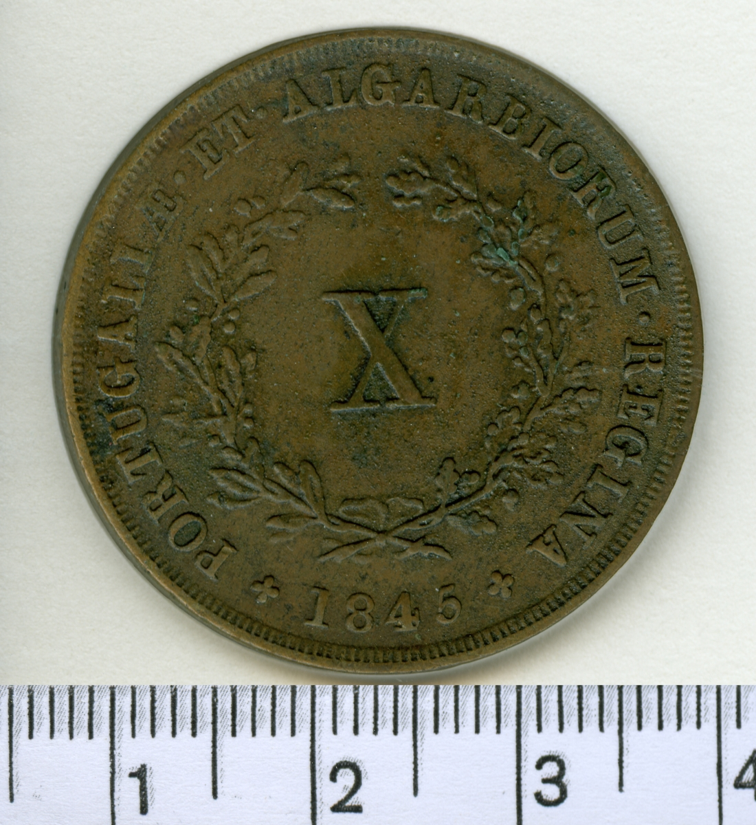 10 Reis 1845 Portugal Maria II.
