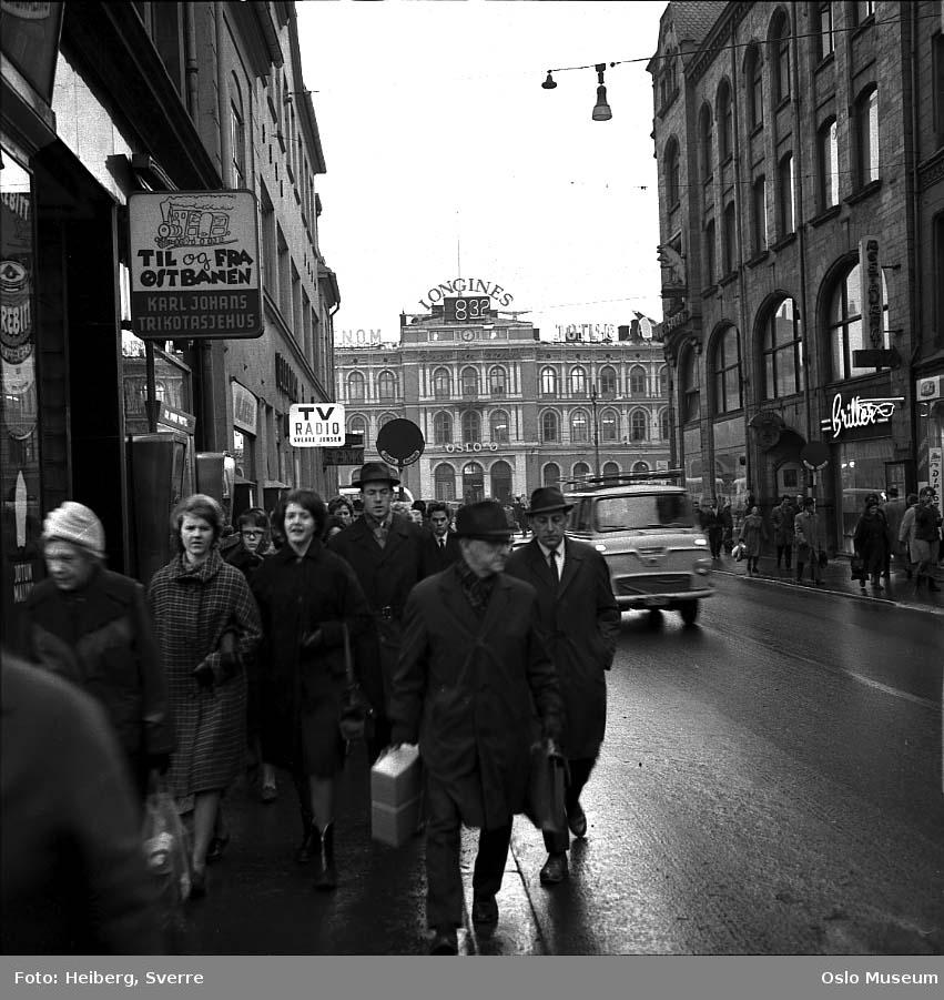 gateløp, mennesker, bil, forretningsgårder, Østbanestasjonen