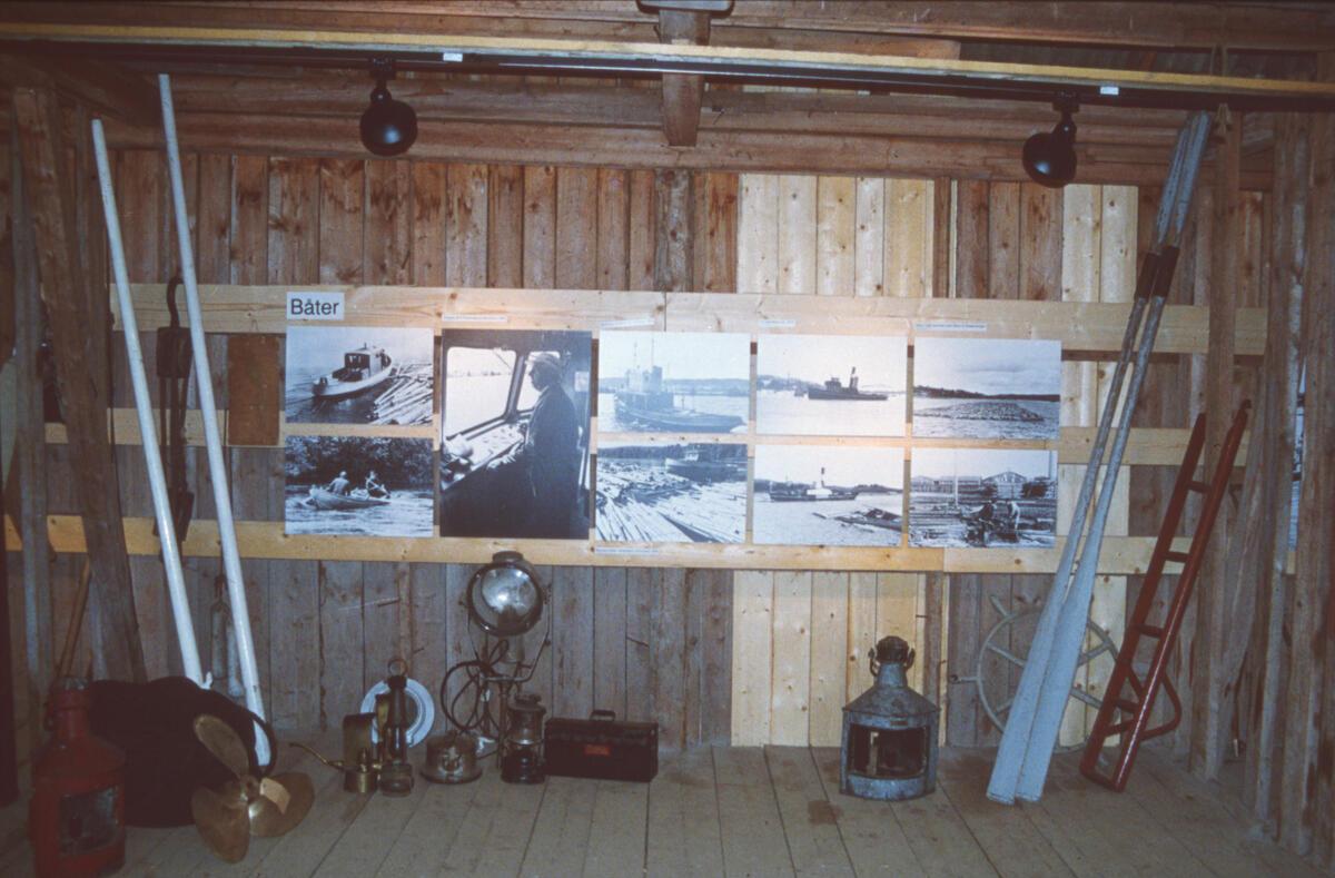 Fra den første utstillingen i Trådbua.