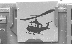Militärmästerskap Motor. Fordonsskylt Helikopterförband.