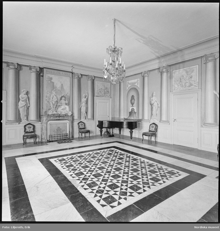 Åkerö, slott, interiör, Bettna socken, Södermanland.