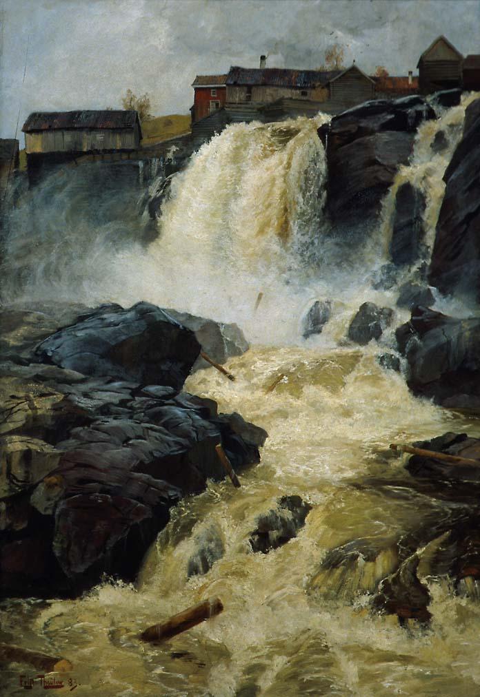 Haugsfossen ved Modum [Maleri]