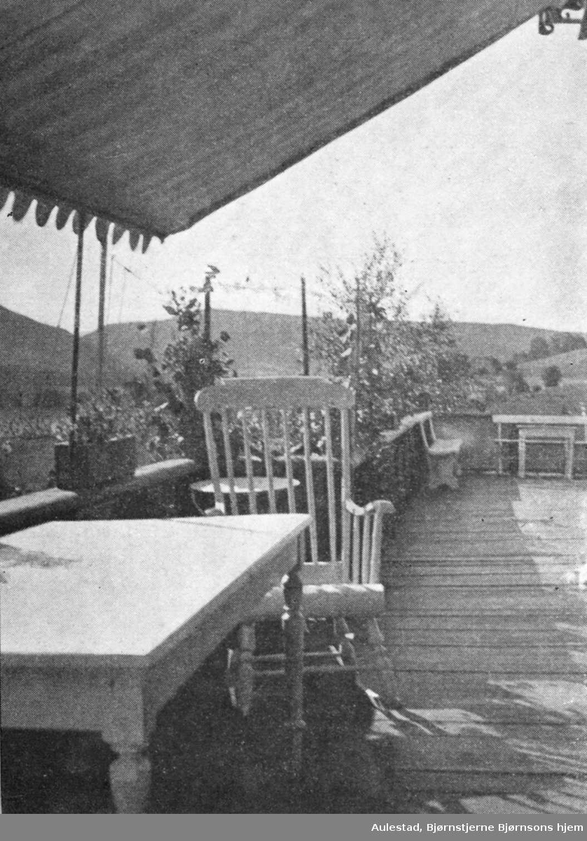 Bjørnson, Aulestad, veranda, stol, lua,