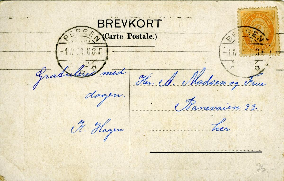 Bjørnson, portrett, brevkort,