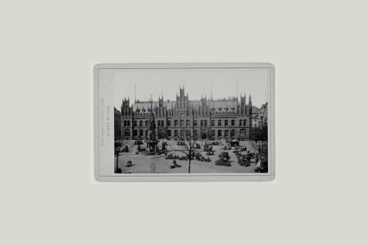 eksteriør, postkontor, Tysk, Hamburg