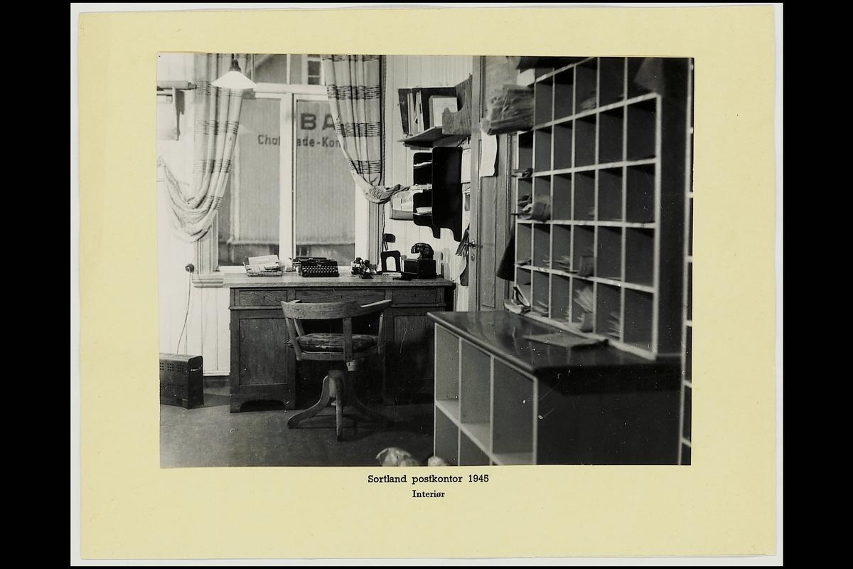 interiør, postkontor, 8400 Sortland, kontor, skrivemaskin