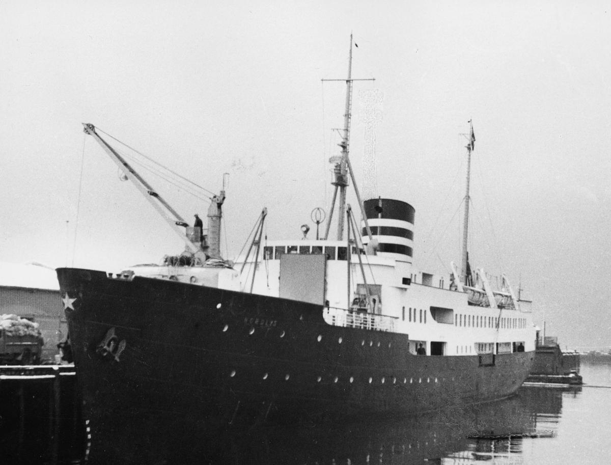 transport båt, eksteriør, M/S Nordlys, ved kai
