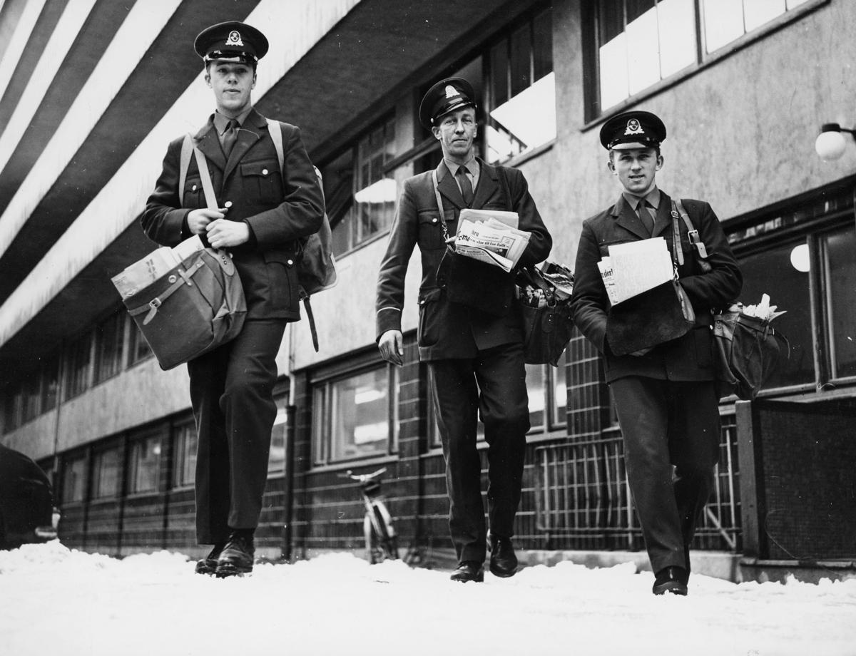 omdeling, Oslo, tre postbud