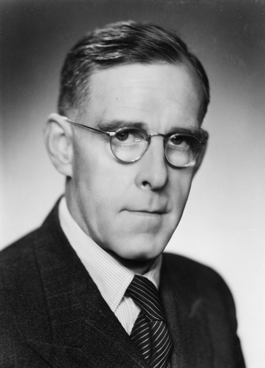 portrett, postmester, Oscar Fredrik Jensen