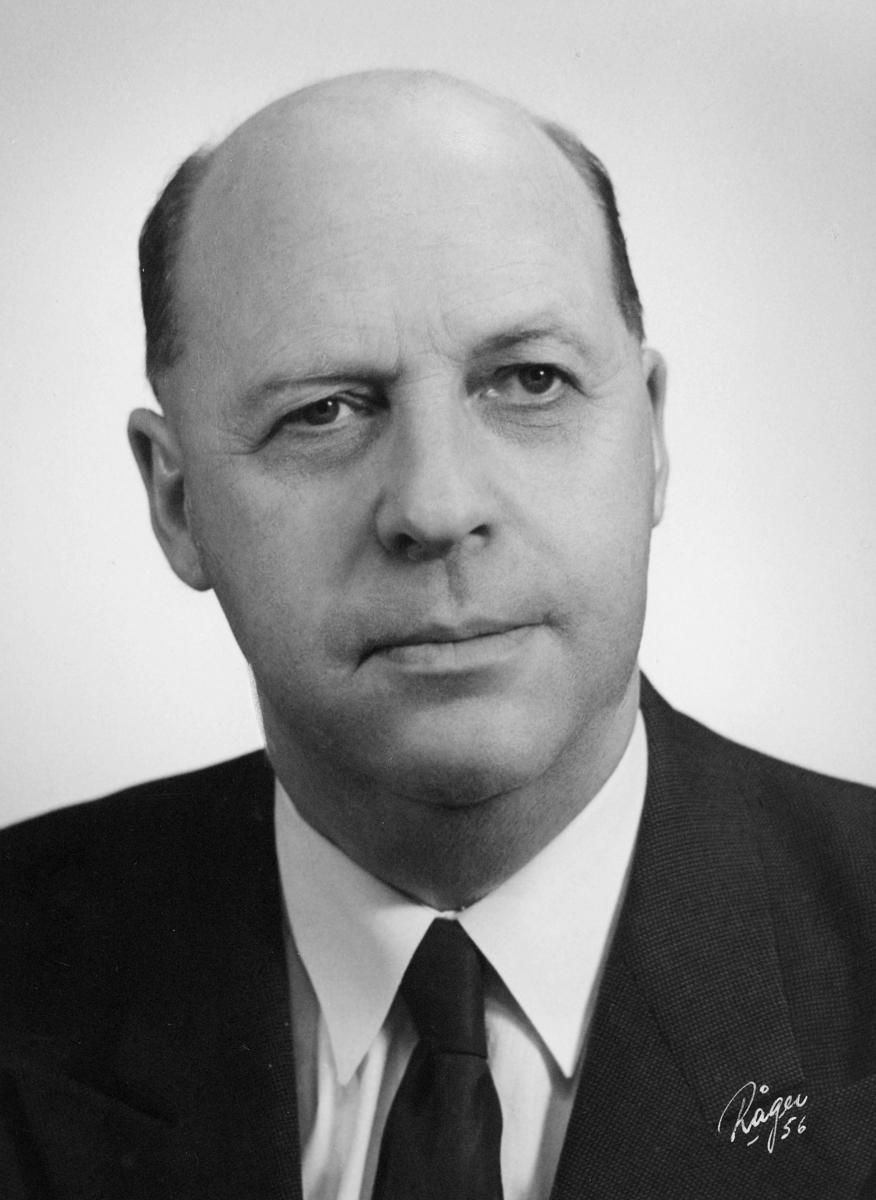portrett, postdirektør, Karl E. Johannessen