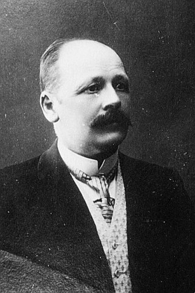 portrett, mann, postmester Søren Nicolaus Frederiksen