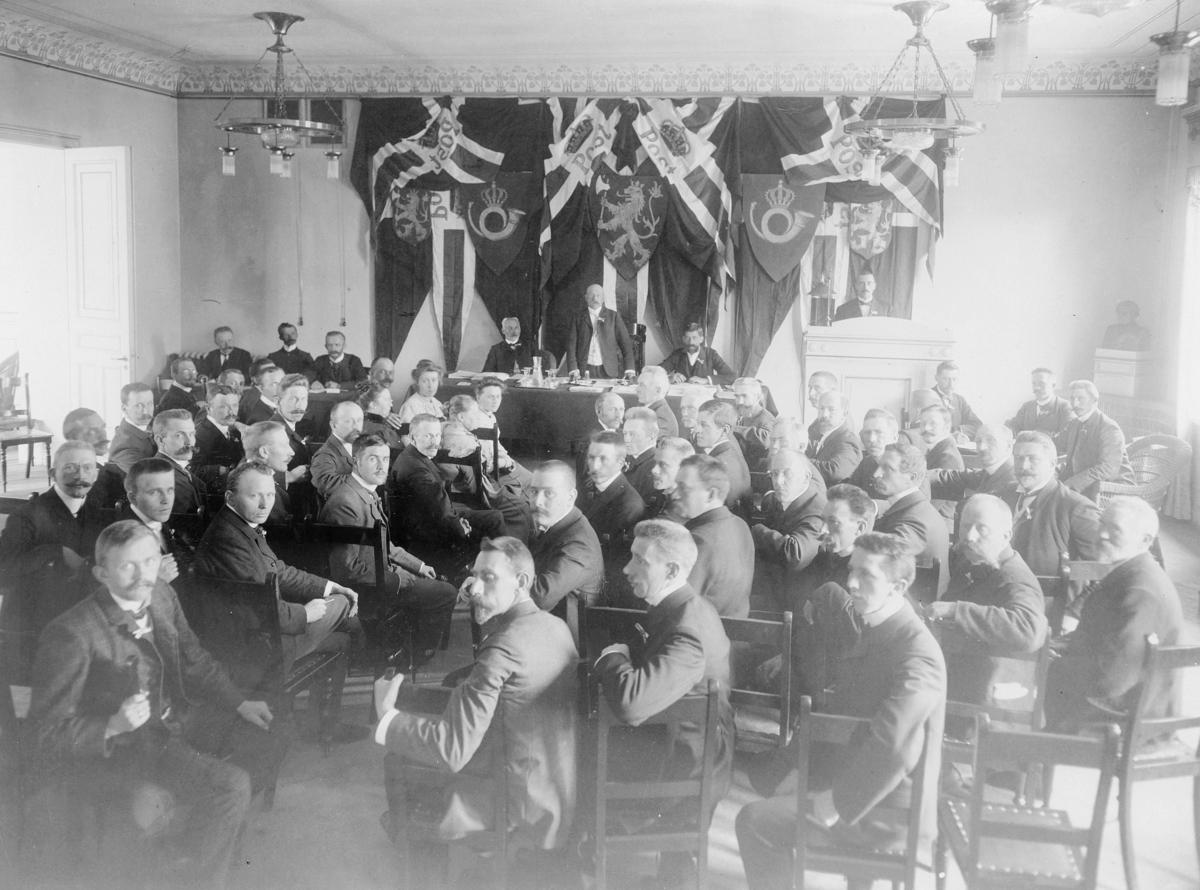 gruppebilde, 4.Norske Postmandsmøde 16-18 August 1906