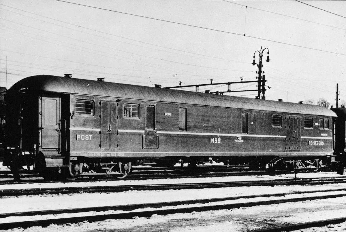 postmuseet, jernbanepostvogn, 1939, eksteriør