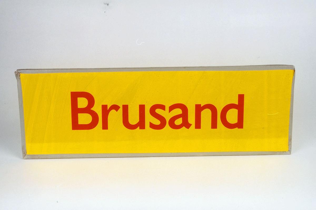 Postmuseet, gjenstander, skilt, stedskilt, stedsnavn, Brusand.