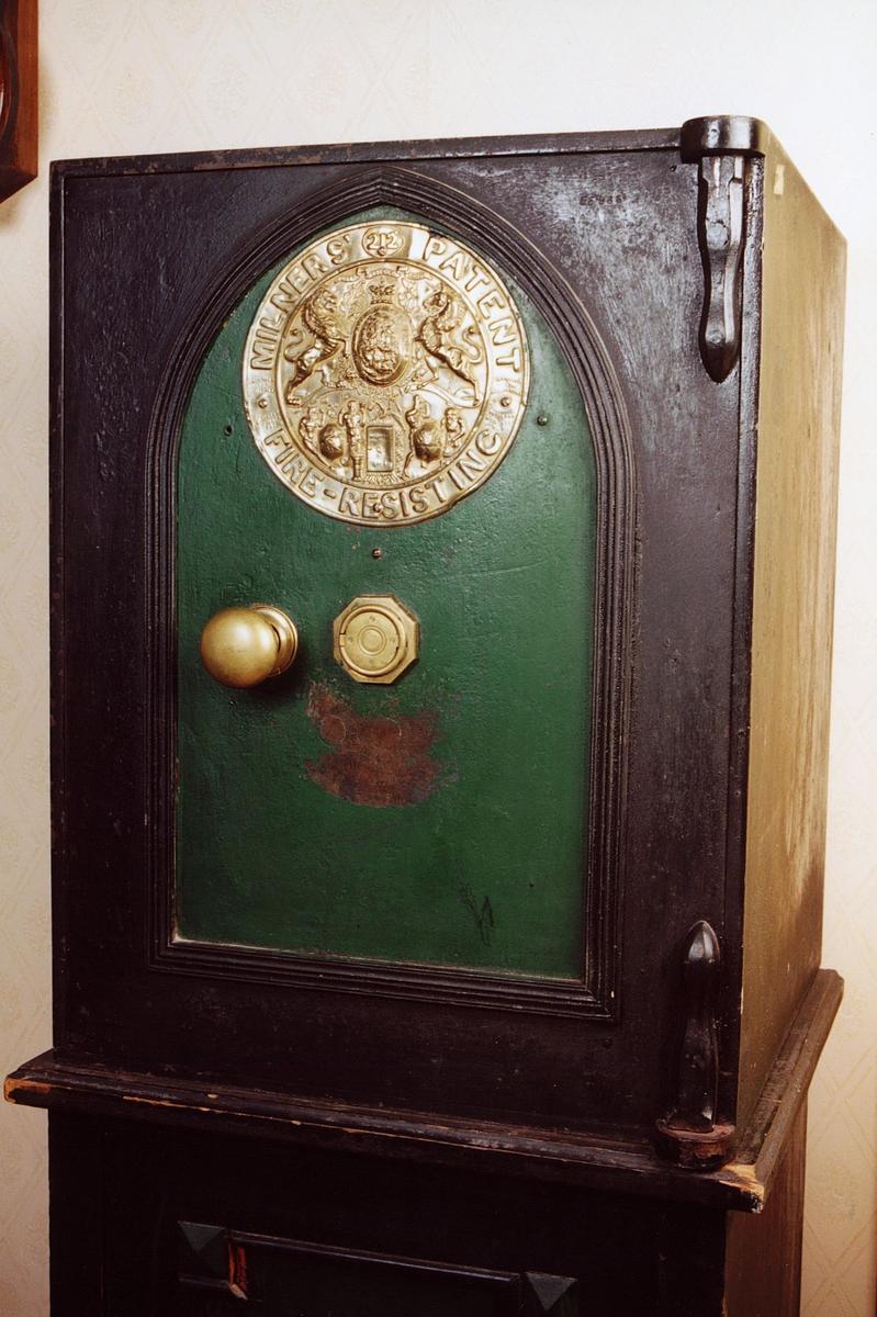 postmuseet, gjenstander, skap, pengeskap, Milners' patent