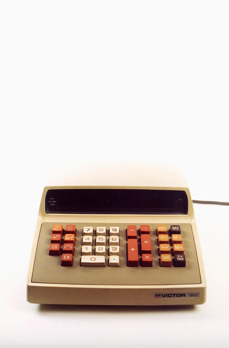 postmuseet, gjenstander, maskin, elektrisk regnemaskin, Victor 1800