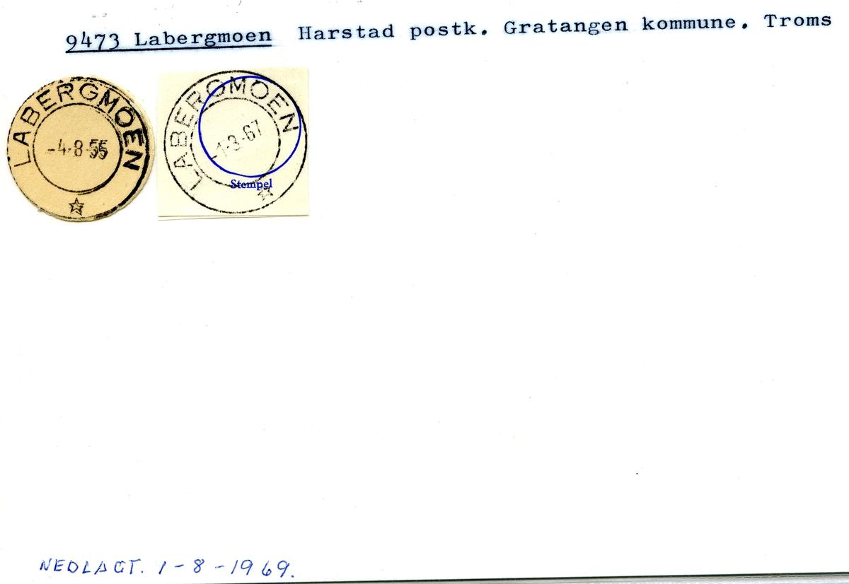 Stempelkatalog Labergmoen, Harstad, Gratangen,Troms