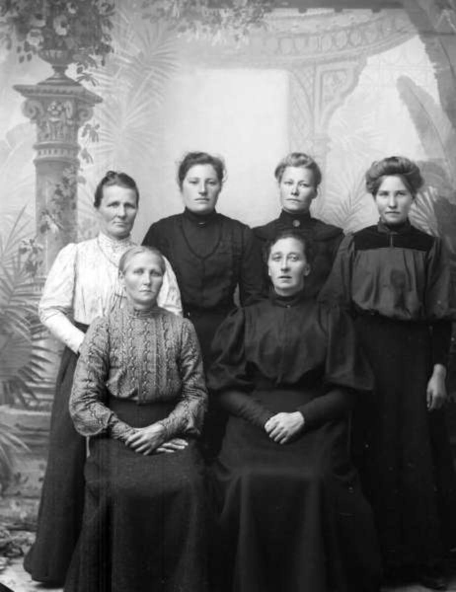 Pro: 03.10.1906. Hanna Brændes gruppe. Gruppebilde, kvinner.