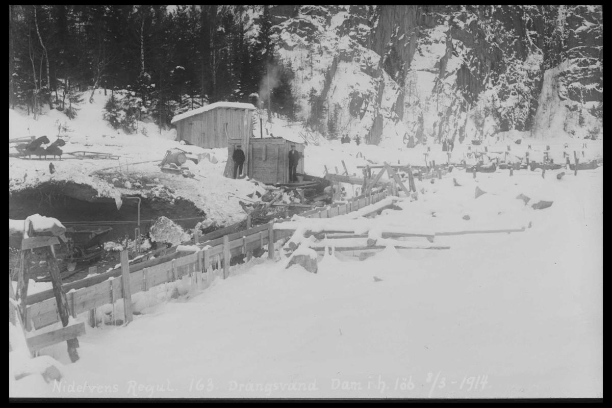 Arendal Fossekompani i begynnelsen av 1900-tallet CD merket 0446, Bilde: 2 Sted: Drangsvann dam Beskrivelse: Drangsvann dam