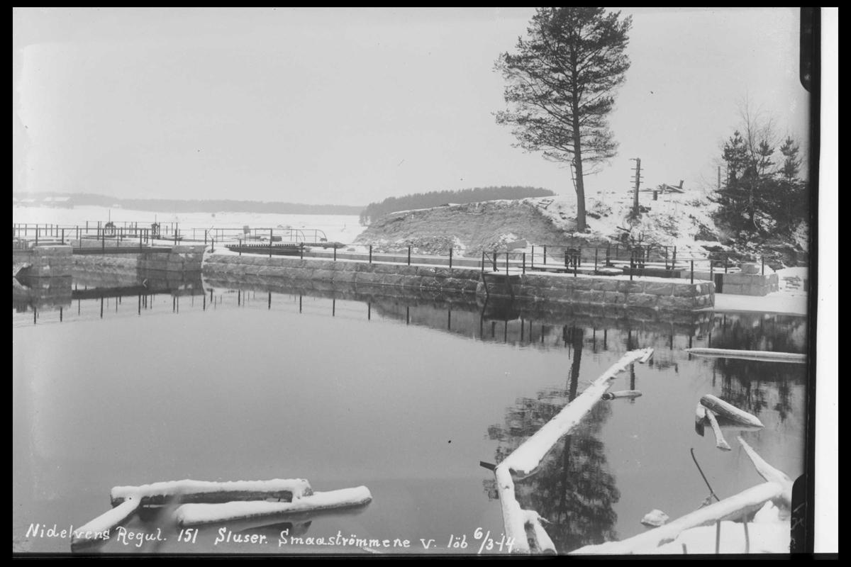 Arendal Fossekompani i begynnelsen av 1900-tallet CD merket 0446, Bilde: 34 Sted: Småstraumene Beskrivelse: Regulering
