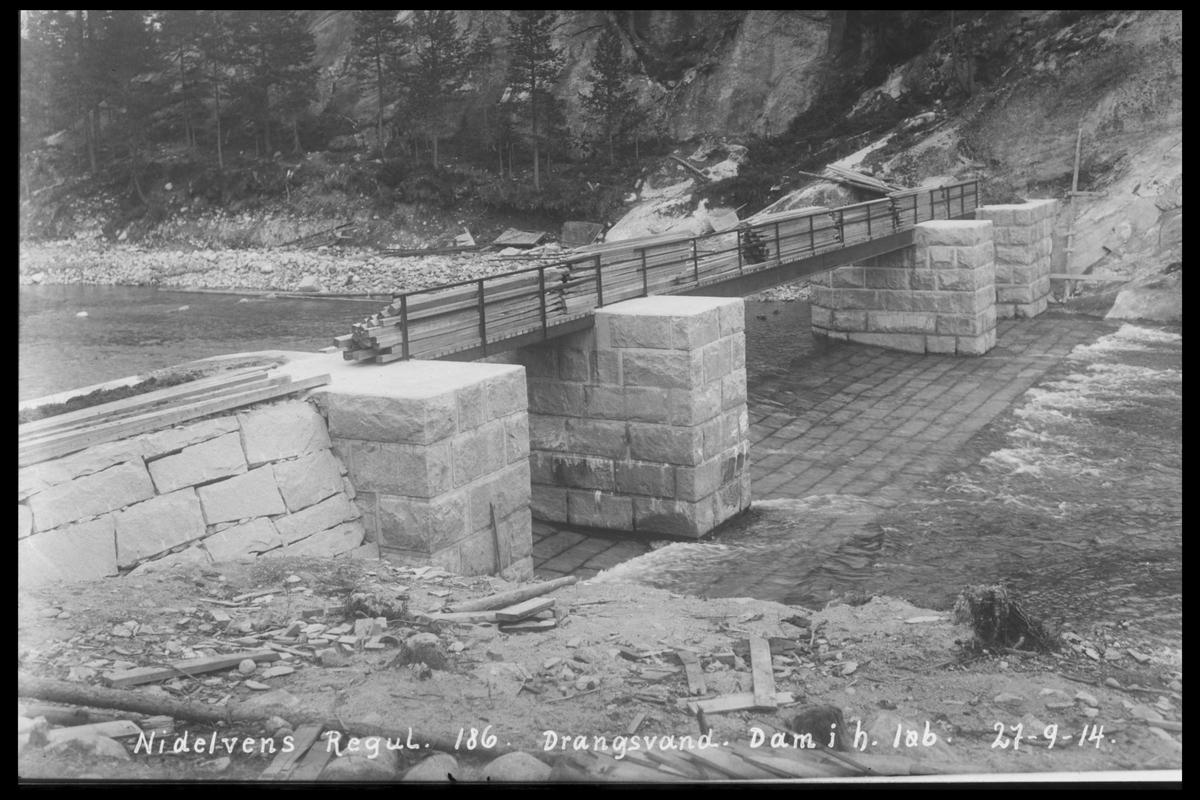 Arendal Fossekompani i begynnelsen av 1900-tallet CD merket 0468, Bilde: 91 Sted: Drangsvann Beskrivelse: Regulering