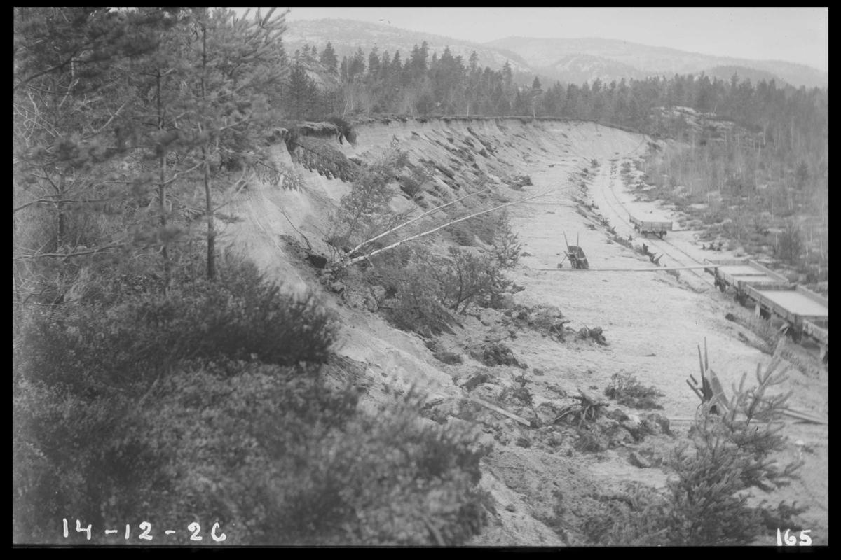 Arendal Fossekompani i begynnelsen av 1900-tallet CD merket 0470, Bilde: 91 Sted: Bjorevja Beskrivelse: Fra sandtaket