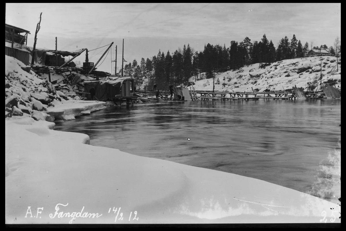 Arendal Fossekompani i begynnelsen av 1900-tallet CD merket 0474, Bilde: 3 Sted: Haugsjå Beskrivelse: Fangdam