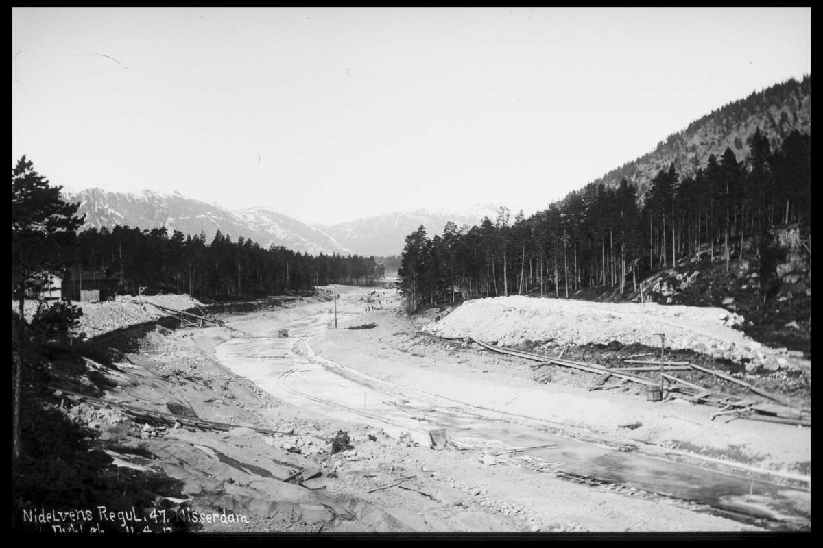 Arendal Fossekompani i begynnelsen av 1900-tallet CD merket 0565, Bilde: 47 Sted: Nisser Beskrivelse: Regulering