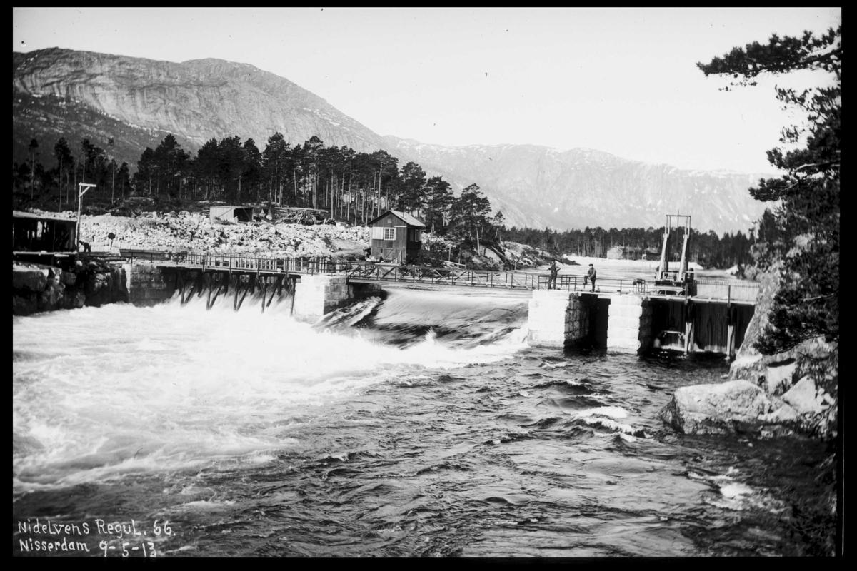 Arendal Fossekompani i begynnelsen av 1900-tallet CD merket 0565, Bilde: 72 Sted: Nisser Beskrivelse: Oversikt dam