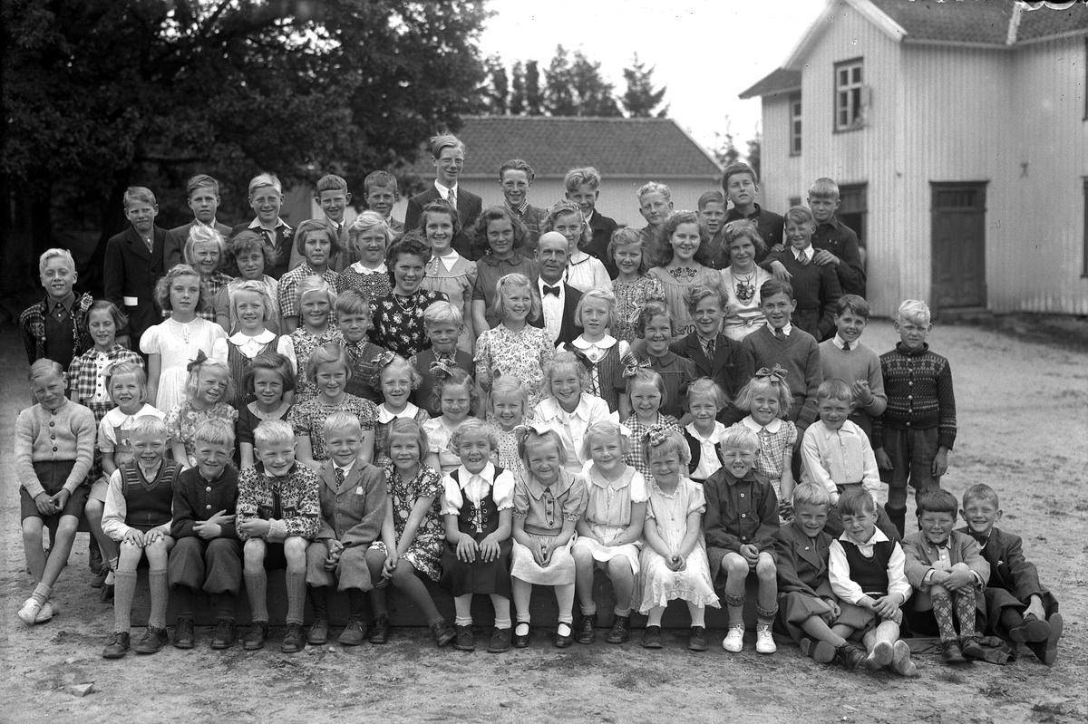 Skolebilde fra Fjære gamle skole