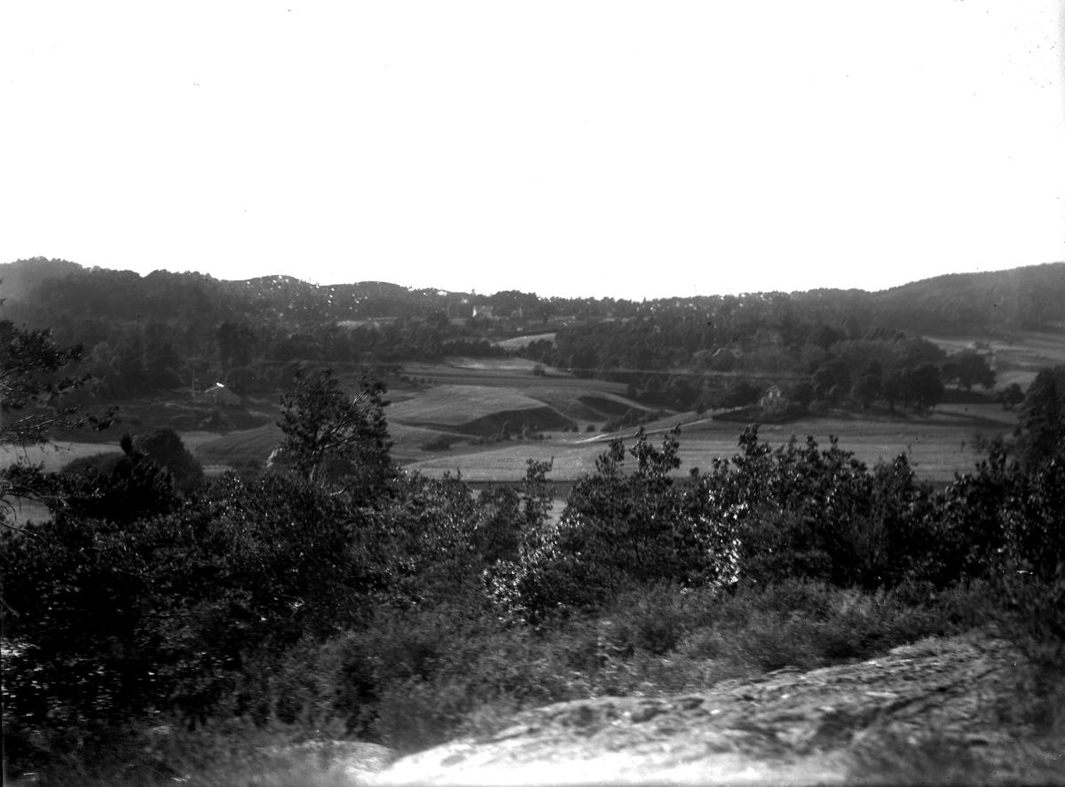 Utsikt fra Fløiheia mot Dømmesmoen