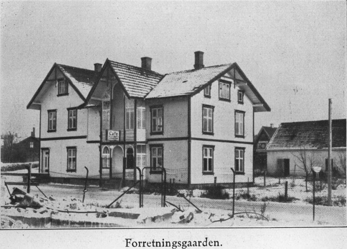 Nygård. Forretningsgaard i Ski. Inneholdt bakeri og barberforretning.