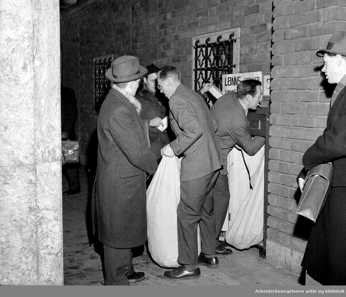 Innlevering av selvangivelsen,.31. januar 1958