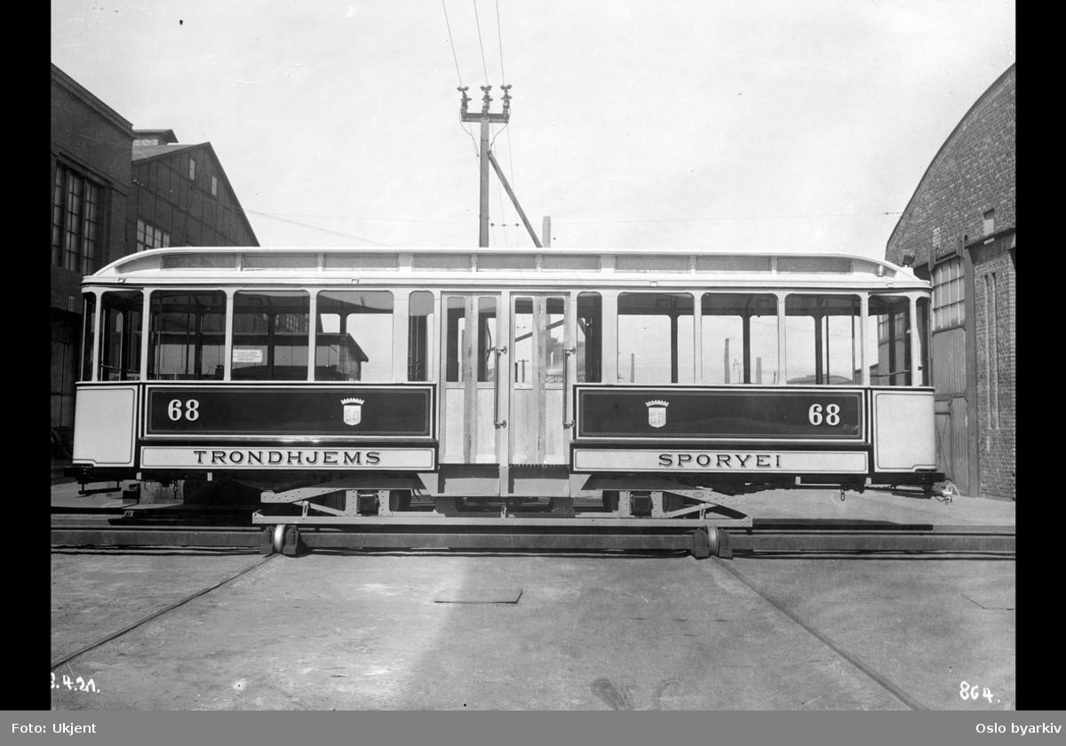 Vogn bygget for sporvei i Trondheim