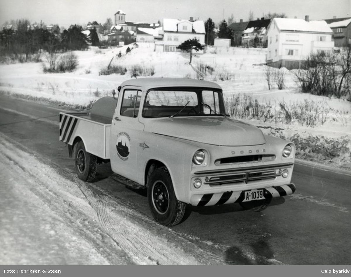 Servicebil (Tankbil) fra Oslo Sporveier, Baneavdelingen. Fra Storoveien