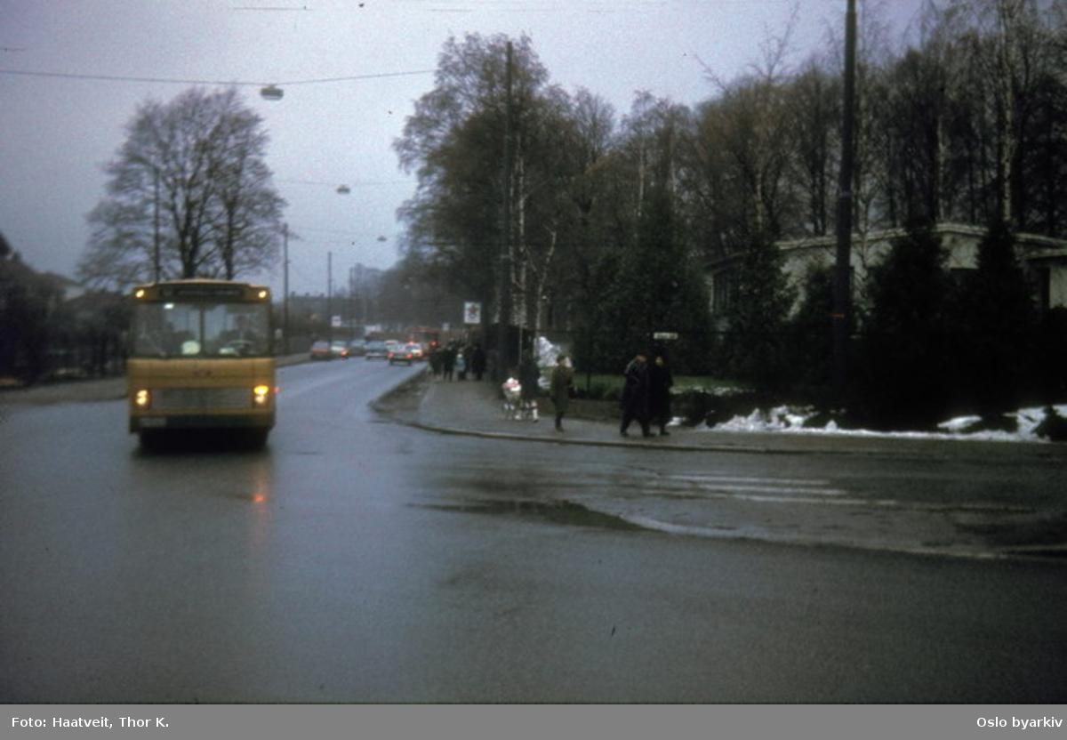 Busser, Ing. M.O. Schøyens Bilcentraler (SBC) linje 52 i Kiershows gate.