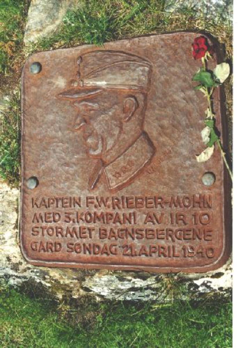 Forsvarsmuseet Oslo utførte utstillingsarbeidene på Bagnbergene gard 1986. Maj. Andreas Hauge tegnet og modelerte minneplatene.  Kjøreanvisning: Bagnsbergene gard.4,5km fra vegen Bagn - Tonsåsen