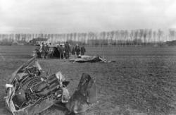 Et norsk Spitfire fly har styrtet på kontinentet. Flyet ble