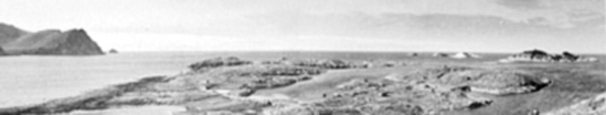 Sørværkomiteen 1946 - 1954, reiste på befaring i forbindelse med oppbygging av fiskeværet etter krigen. Oversikt øygruppa, gjenoppbygd med hjelp fra Hamar.  Se NO-31061-01 og bl. a. 0401-08566 til 0401-08571.