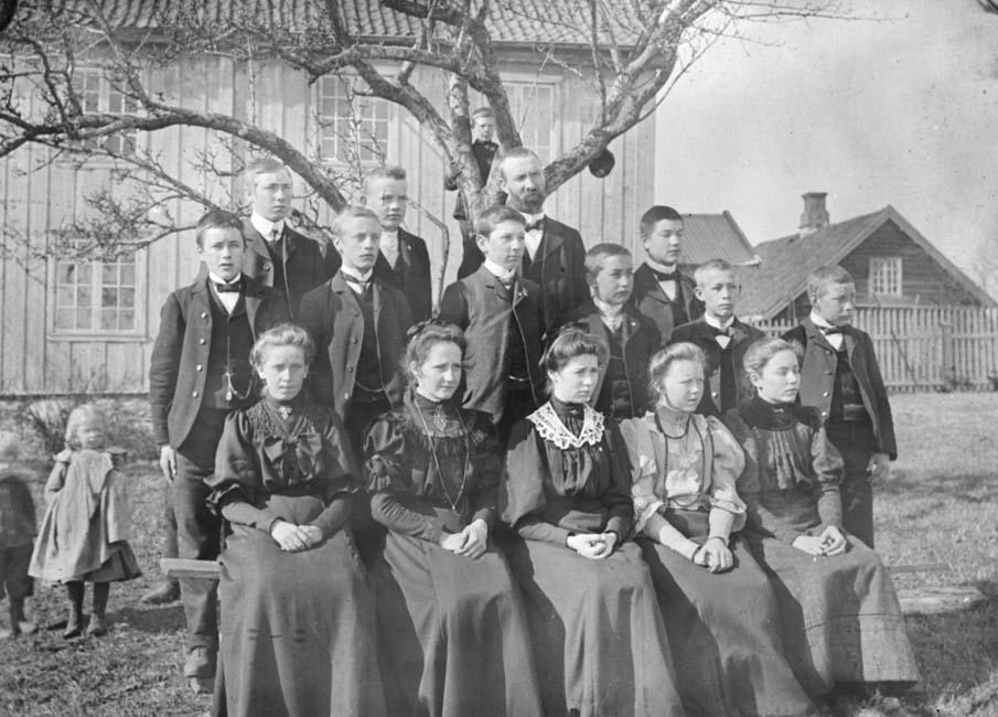 GRUPPE: 15 ELEVER, FORTSETTELSESKOLEN, PETTLUND, FRAMHALDSKOLEN,