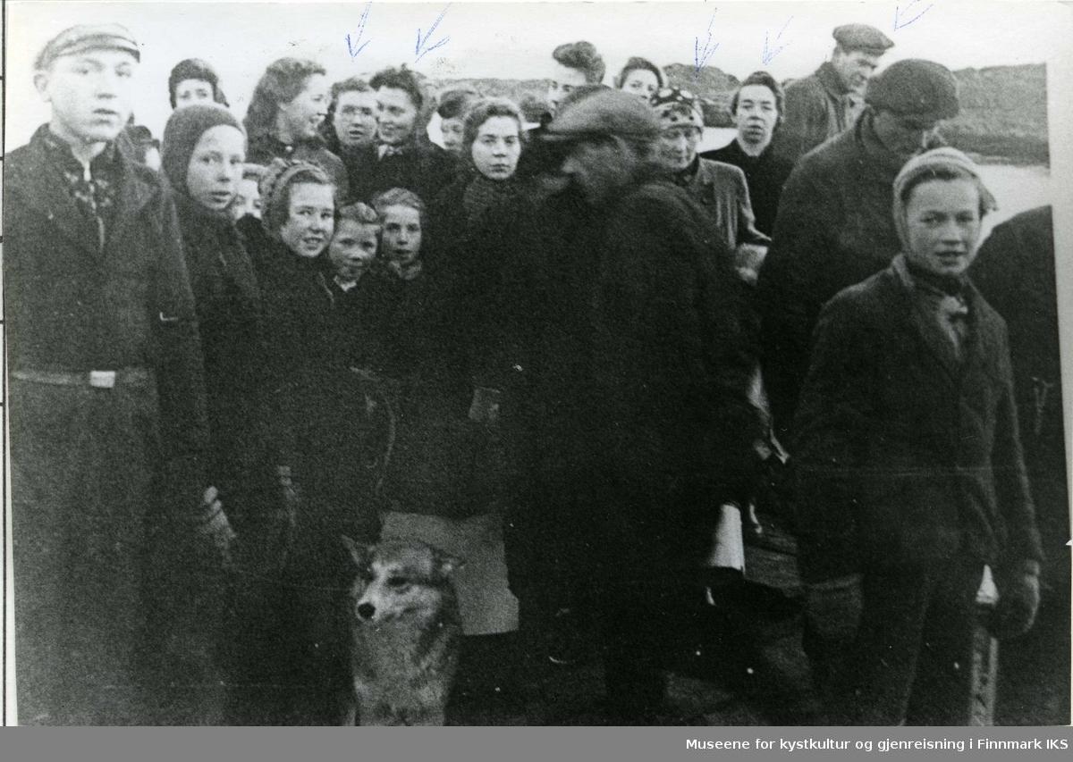 Evakuering fra Gamvik 20. November 1944.