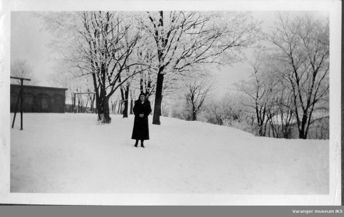 Mildrid Karlsen en vinterdag.