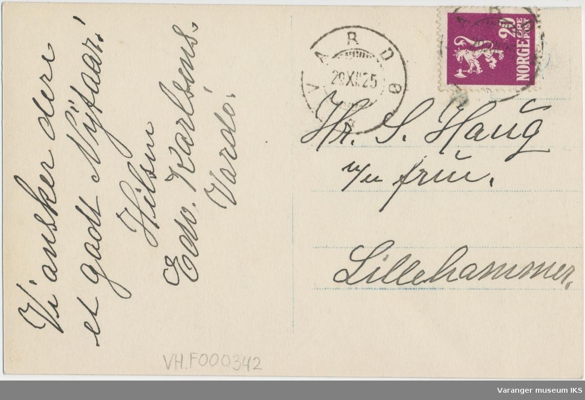 Postkort, Strandgata sett mot nord, ca. 1920