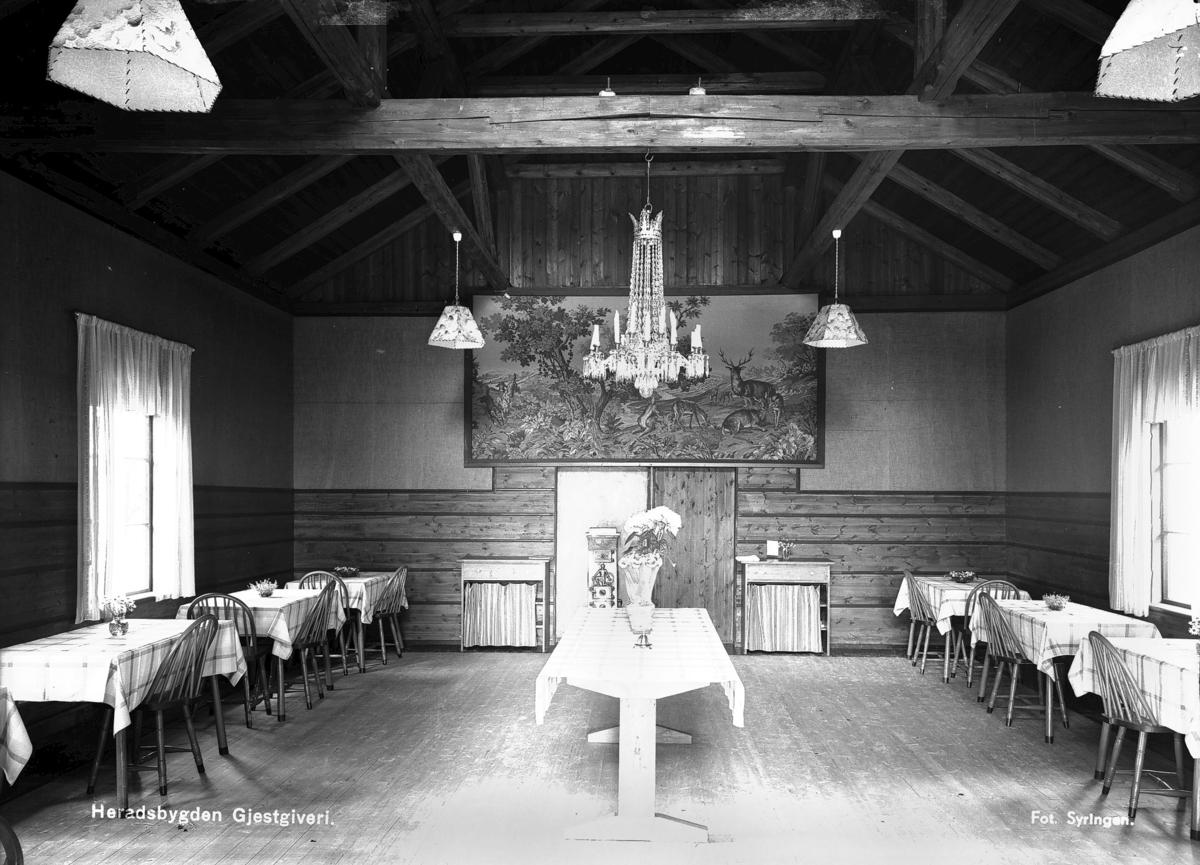 Heradsbygda Gjestgiveri-Spisesalen
