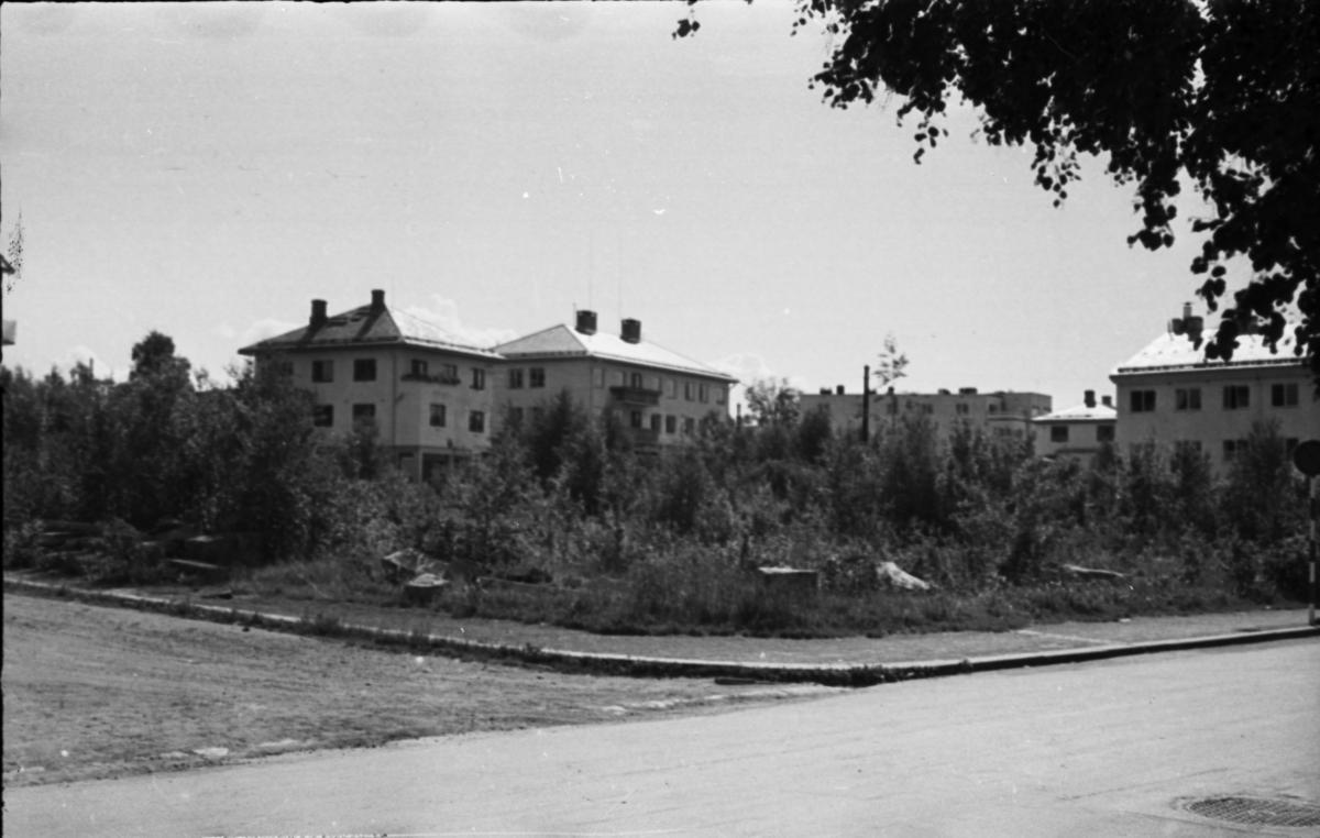 Rådhustomta før gjenoppbygging etter bombingen.
