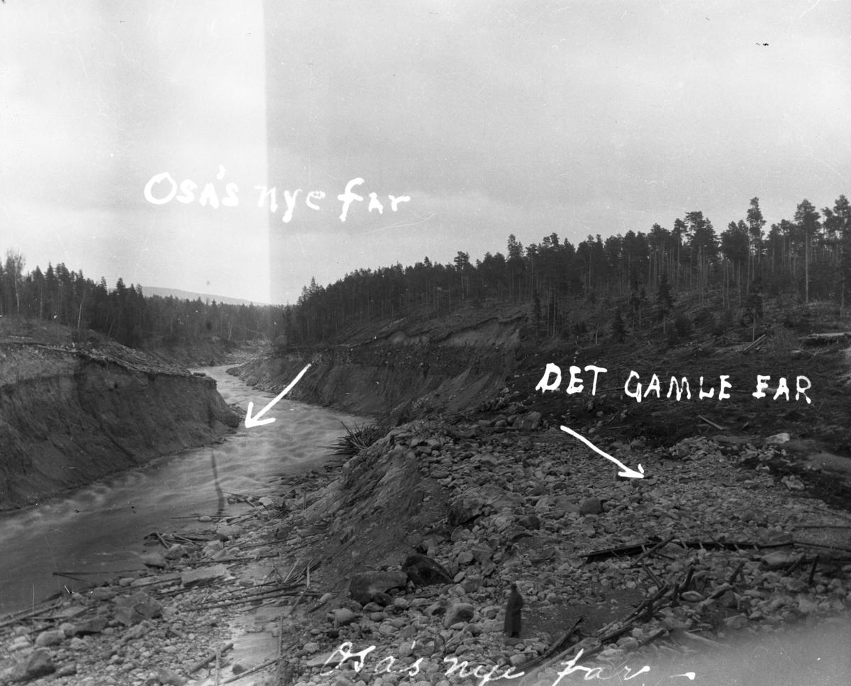 Søndre Osa etter flommen i 1916
