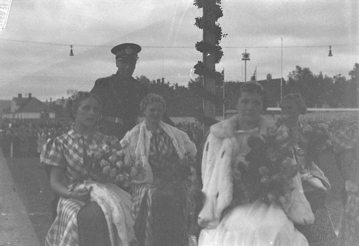 Arrangement i forbindelse med kåring av Trondheimsprinsessen 1937